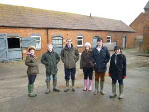 Harper Adams sustainable farming MSc students with Martin Hare.