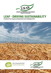 Sustainability report front cover